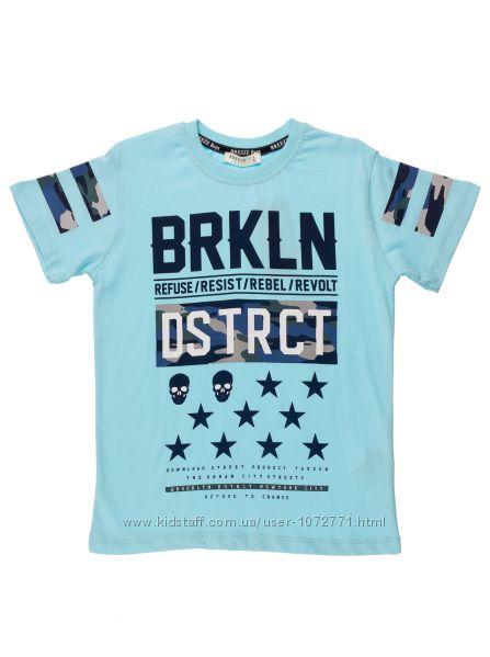 Футболка для мальчика Breeze BRKLN 12095 желтая и голубая