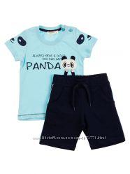 Комплект для мальчика футболка и шорты Breeze Панда 11831