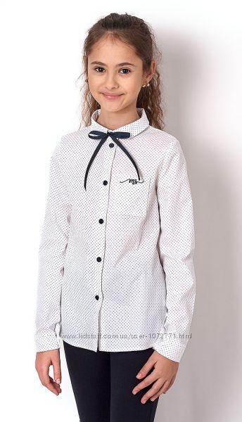 Школьная блузка Mevis Горошек 2645 - молочная