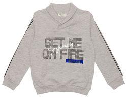 Джемпер для мальчика Breeze синий и серый 11947