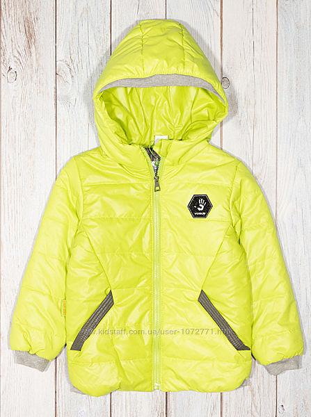 Куртка демисезонная для мальчика Одягайко салатовая 22207