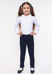 Брюки школьные для девочки с гипюром SMIL115211