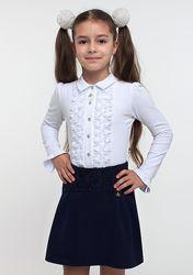 Юбка школьная трикотажная SMIL черная и темно-синяя 120159