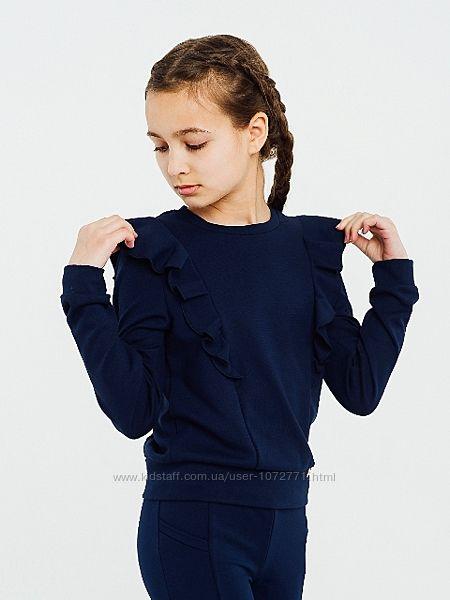 Свитшот трикотажный для девочки SMIL синий 116397 116398