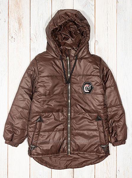 Куртка для мальчика Одягайко коричневая 22308