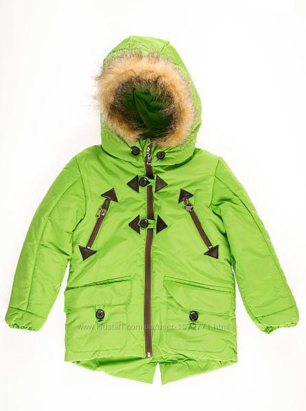 Куртка для мальчика ОДЯГАЙКО салатовая 22055