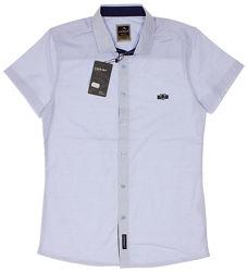 Рубашка с коротким рукавом для мальчика Cegisa голубая 7651