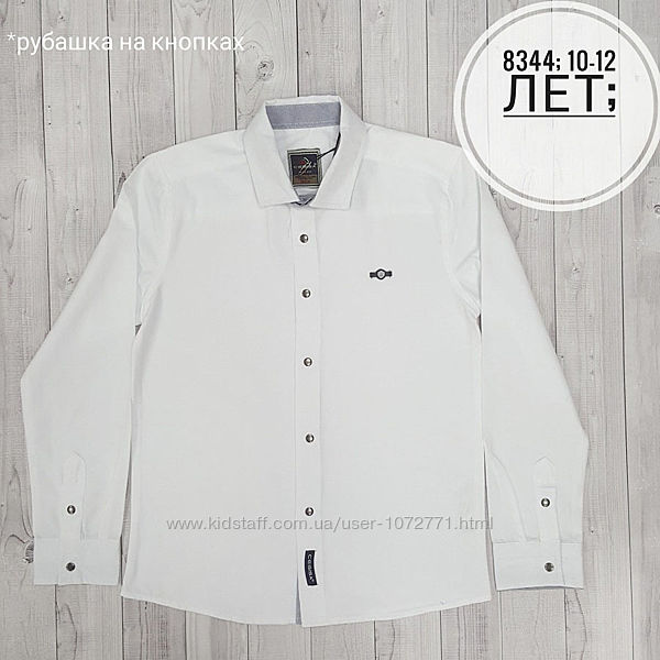 Рубашка для мальчика Cegisa белая 8344