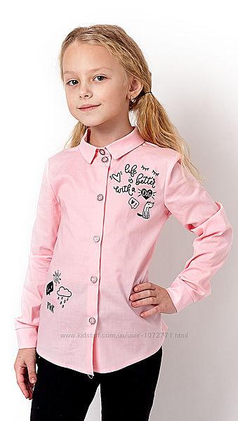 Рубашка для девочки Mevis 3229 - 4 цвета