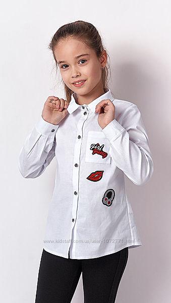 Рубашка для девочки Mevis белая 3291-01