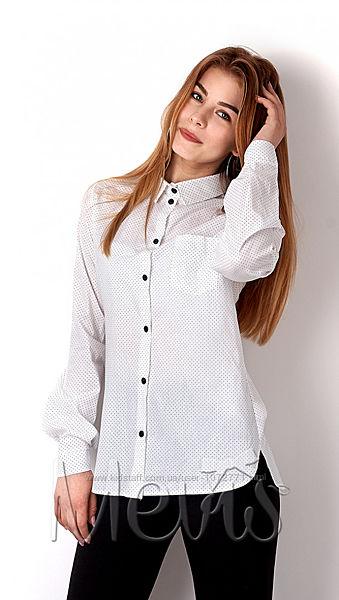 Рубашка для девочки Mevis молочная 2934-01