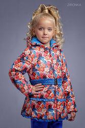 Тёплая деми куртка Зиронька 2060 - размеры 92-116