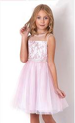 Нарядное платье для девочки Mevis розовое 3316-01