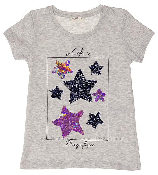 Футболка для девочки Breeze Звезды 14265 - 4 цвета в наличии