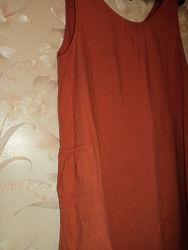 Шикарный сарафан лен, большой размер