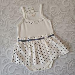 Хлопковый летний боди платье