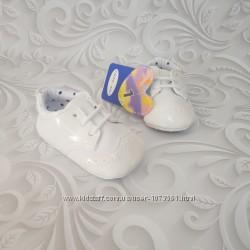 Лаковые пинетки, туфли оксфорд, белые, черные