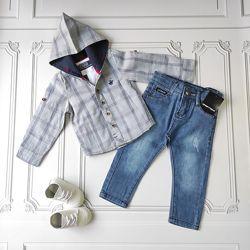 Детская рубашка с капюшоном
