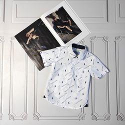 Белая  шведка, рубашка с коротким рукавом Ralph Lauren