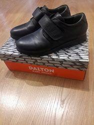 Туфли школьные черные для мальчика DALTON