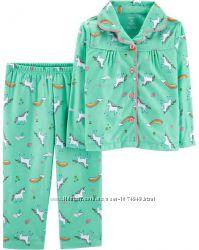 Флисовая пижама для девочки 2Т рост 88-93 см, набор Картерс Carters