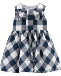 Детское платье в клетку Carters 12М, 24М девочке Картерс красивое летнее