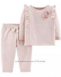 Нарядный розовый комплект Carters 12M, набор Картерс для девочки