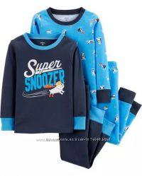 Комплект пижам Carters 24M для мальчика, набор трикотажный Картерс 4предмета
