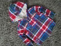 Меховушка, теплая рубашка  Marks & Spencer 1-2 года