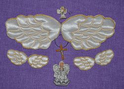 Крылышки ангелочка для крестильных бодиков набор