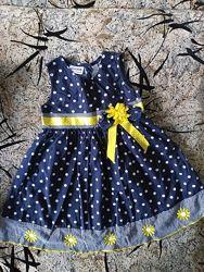 Платье-сарафан девочке 3-5 лет
