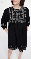 Платье ZARA в этническом стиле, размер М подойдёт и на С