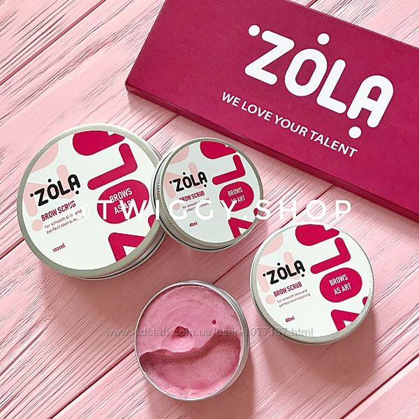 Скраб для бровей Zola 40 мл, 100  мл
