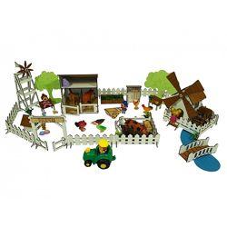 Набор игровой мебели Веселое Ранчо с механической Мельницей