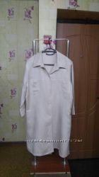 Новая Лен и вискоза Удлиненная рубашка блуза кардиган Vroom&Dreesmann р. 4