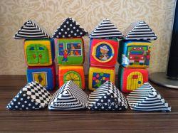 Мягкие развивающие кубики K&acutes kids в сумке