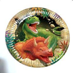 Одноразовая посуда и атрибутика в стиле Динозавры