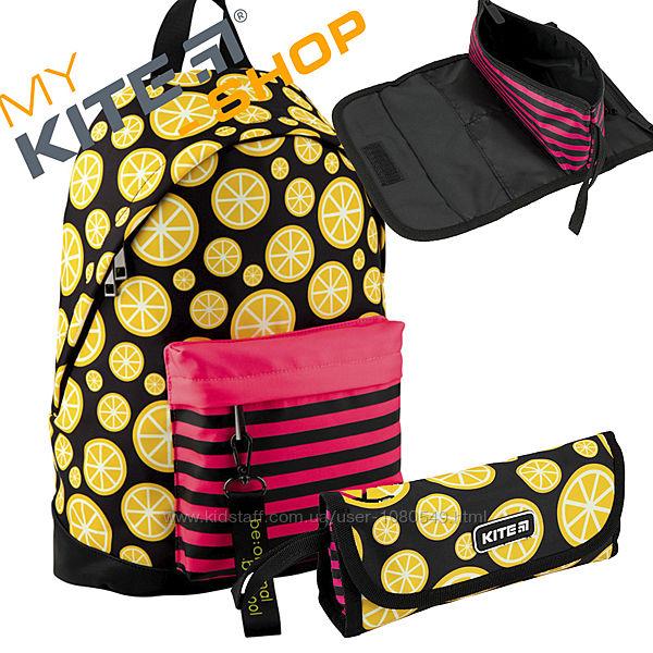 Школьный набор KITE 2 в 1 Рюкзак Пенал Подростковый Для девочки