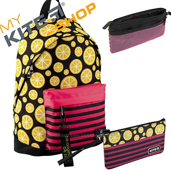 Школьный набор KITE 2 в 1 Рюкзак Пенал Подростковый Для девочек