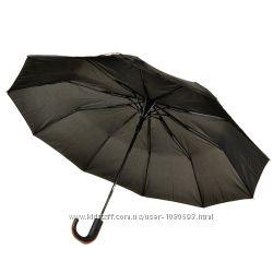 Прочный зонт полуавтомат мужской Антиветер 3 сложения