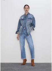 Zara джинси джинсы рваный низ