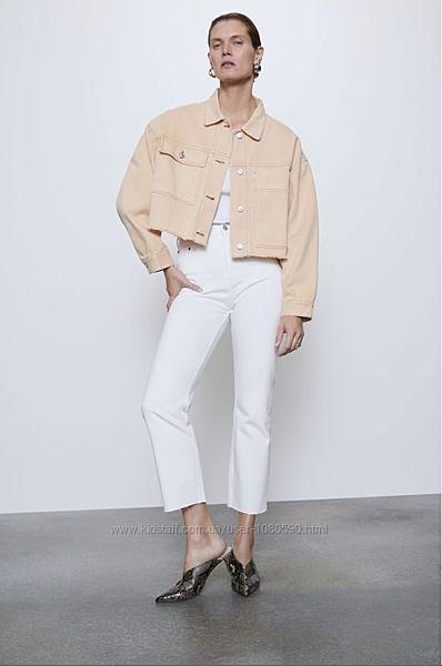 Zara джинсова куртка жакет джинсовая куртка пиджак