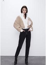 Zara меховая куртка бомбер шуба
