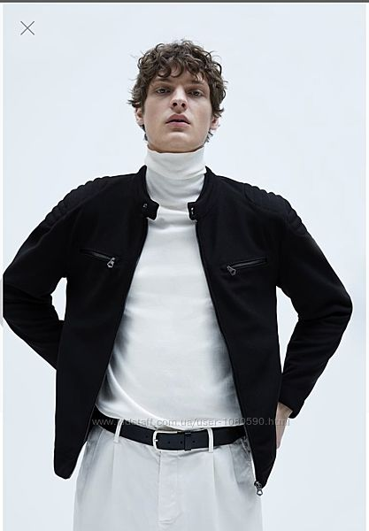 Zara байкерская куртка бомбер жакет