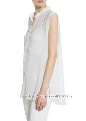 Блуза женская MANGO размер L шифоновая с рваными краями