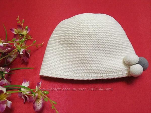 Теплая шапочка LC Waikiki baby с помпонами для девочки 2-4 года