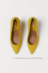 Туфли лодочки желтые h&m 38 р.