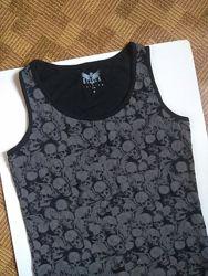 футболка майка череп черепа с черепами black premium by emp размер М 48р