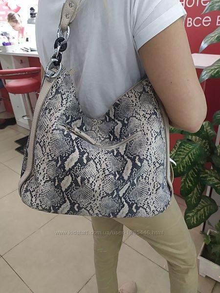 Сумка кожаная,  женская сумка с принтом.