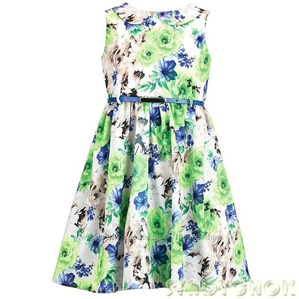 Яркое нарядное  платье для девочки раз 104
